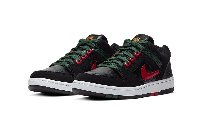 nike sb air force 2 low gucci green red black AO0300 002 release info date photos colorway