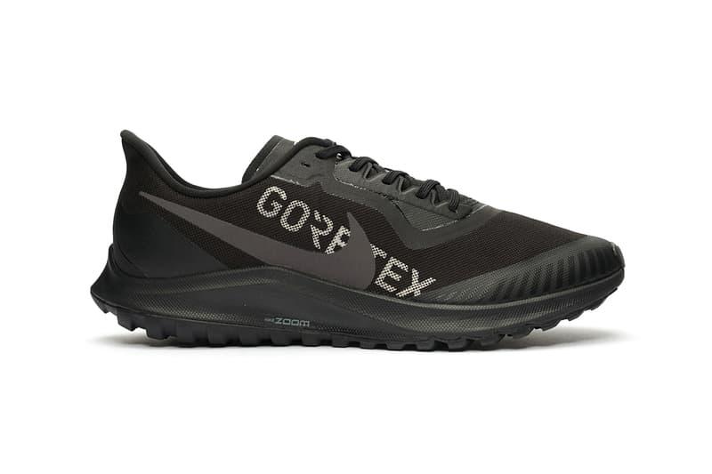 nike zoom gore tex 36 pegasus trail running hard wearing sneaker footwear trainers buy cop purchase weatherproof best winter sneakers Bv7762-300 -001 black thunder grey galactic jade