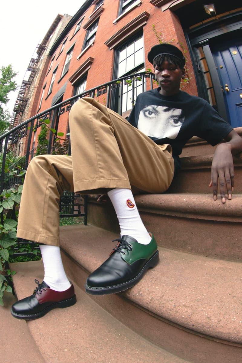 noah solovair gibson shoe tri color black green red doc martens