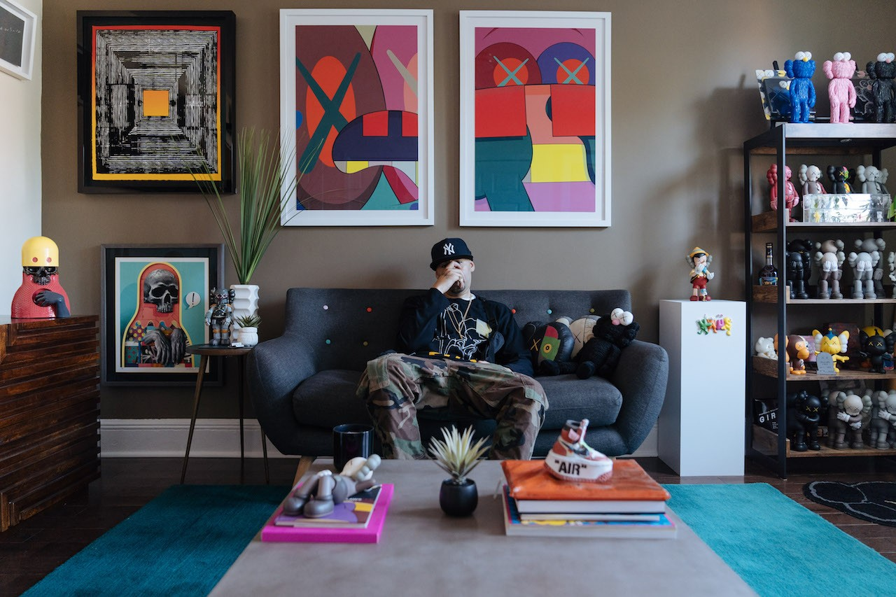 pen and paper nover interview graffiti street art kaws art collector contemporary art acrylic paintings