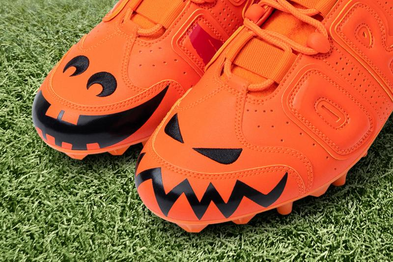 "Odell Beckham Jr.'s Latest Nike Cleats Celebrate Halloween savage beasts pumpkins orange jack o lantern Cleveland browns 2009 Air Force 1 Low ""Savage Beast"""