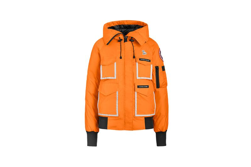 octobers very own ovo canada goose release information drake parka bomber chilliwack constable sunset orange black reflective detailing buy cop purchase