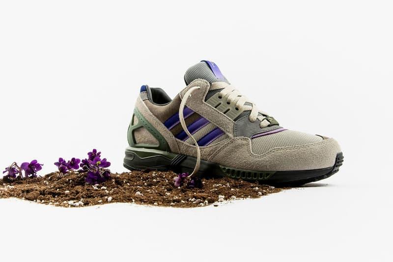 packer x adidas Consortium ZX 9000 Meadow Violet sneakers footwear release pack drop 1