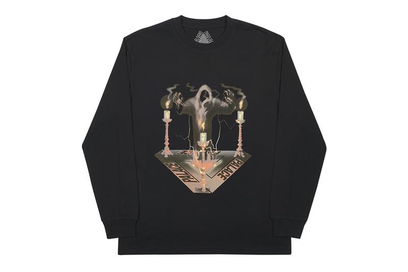Palace SPOOKED Halloween Release Hoodie Crewneck Sweater T shirt Black Info Date Buy Skateboards Tri ferg