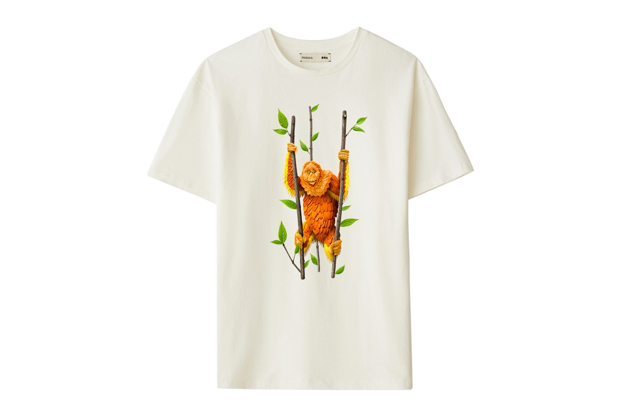 Nadya Hutagalung PANGAIA Capsule Collection Raku Inoue Tapanuli Orangutan Sumatran Elephant Barumun Nagari Wildlife Sanctuary Sumatran Orangutan Conservation Programme Seaweed T-shirts Orange Green Purple Brown