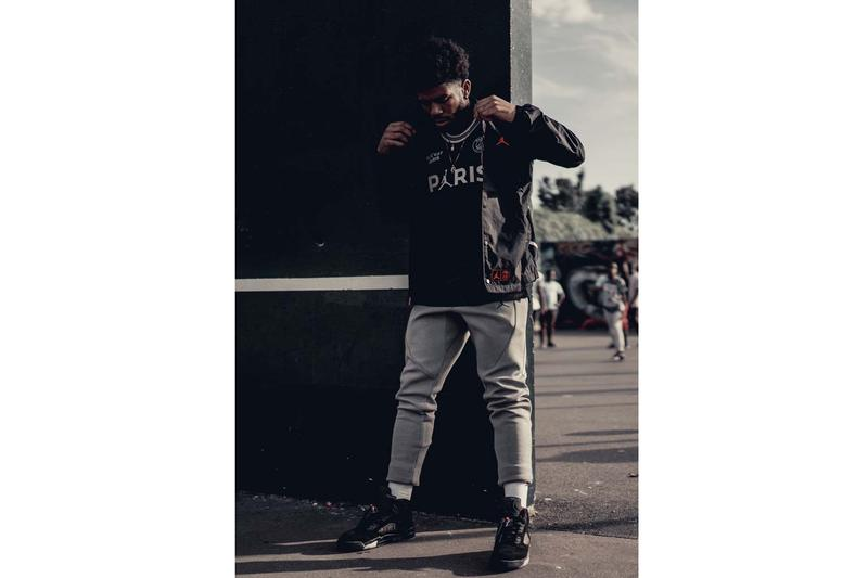Paris Saint-Germain x Jordan Brand Coach Jacket psg soccer football air jordan nike fall winter 2019 lookbooks