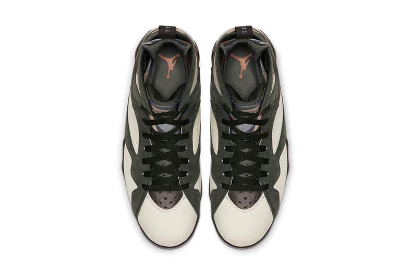 patta air jordan 7 icicle brown tan at3375 100 aj7 release sneakers shoes green olive