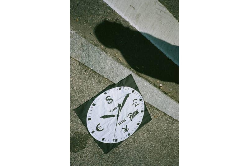 "Patta Timex ""Time is Money"" Watch MK1 Military 36mm Grosgrain Strap Black Dial INDIGLO Night-Light Gold Black White Orange"
