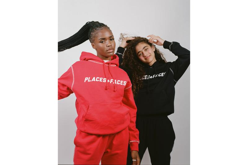 Places+Faces Fall/Winter 2019 Lookbook Collection First Drop Knits Hoodies Sweatshirts T-shirts Red Black White Tote Bag