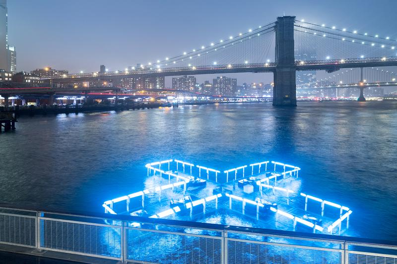 + Pool Floating Light Installation Color Changing East River Water Quality Testing Analyzing Data Playlab Inc Family New York Seaport District Public Art LED