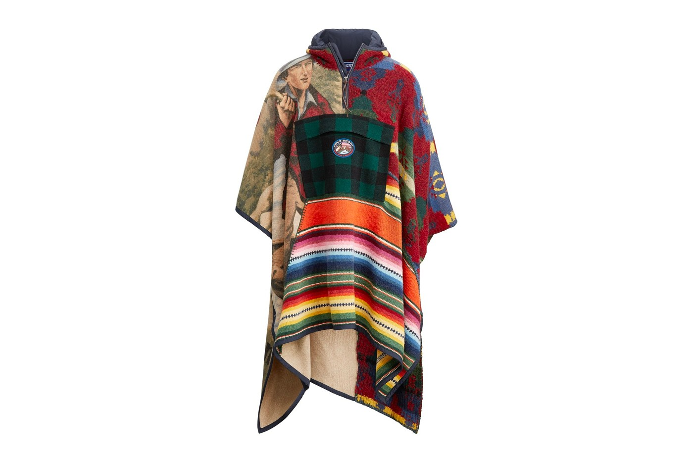 Polo Ralph Lauren Polo Sport Outdoor collection poncho patchwork mountaineering trail hiking alpine apparel fall winter 2019 1998 90s reissue