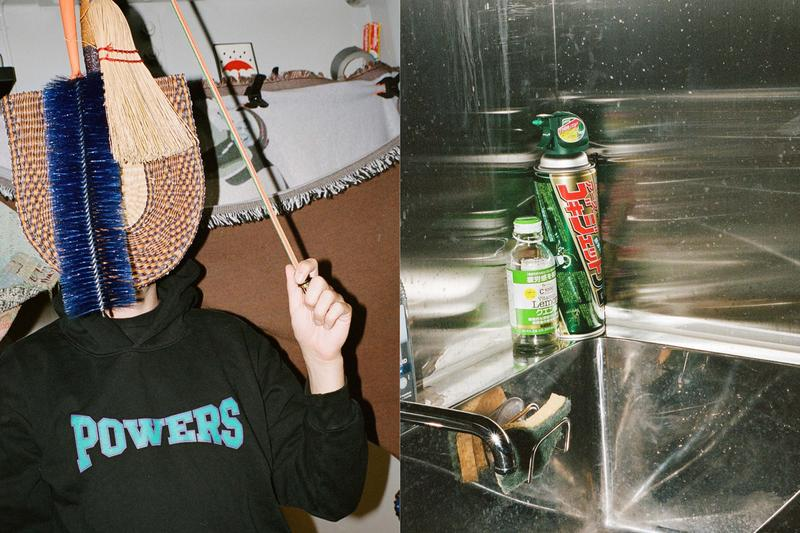 POWERS SUPPLY Fall/Winter 2019 Lookbook Collection Hoodies T-shirts Sweatpants Hats Nalgene Water Bottles Pencils Rubber Coin Purses Black White Blue Maroon