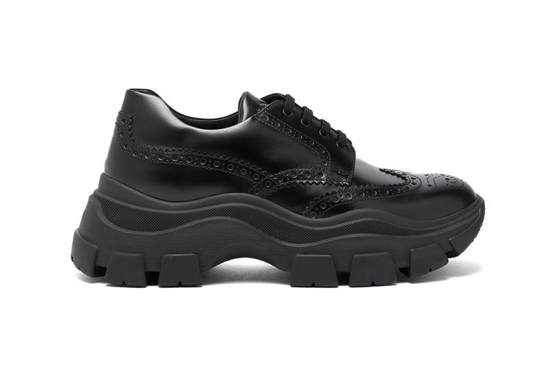 Prada Chunky-Sole Leather Brogue Trainers Runway Release Information Cop Online MATCHESFASHION.COM Formal Functional Sneakers Fashion Italian Label FW19 Fall Winter 2019