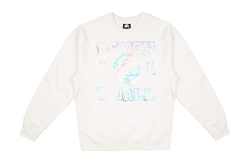 "Psychworld ""Iridescent College Crew"" Release Info Playboi carti bloody osiris crewneck sweatshirt drop date"