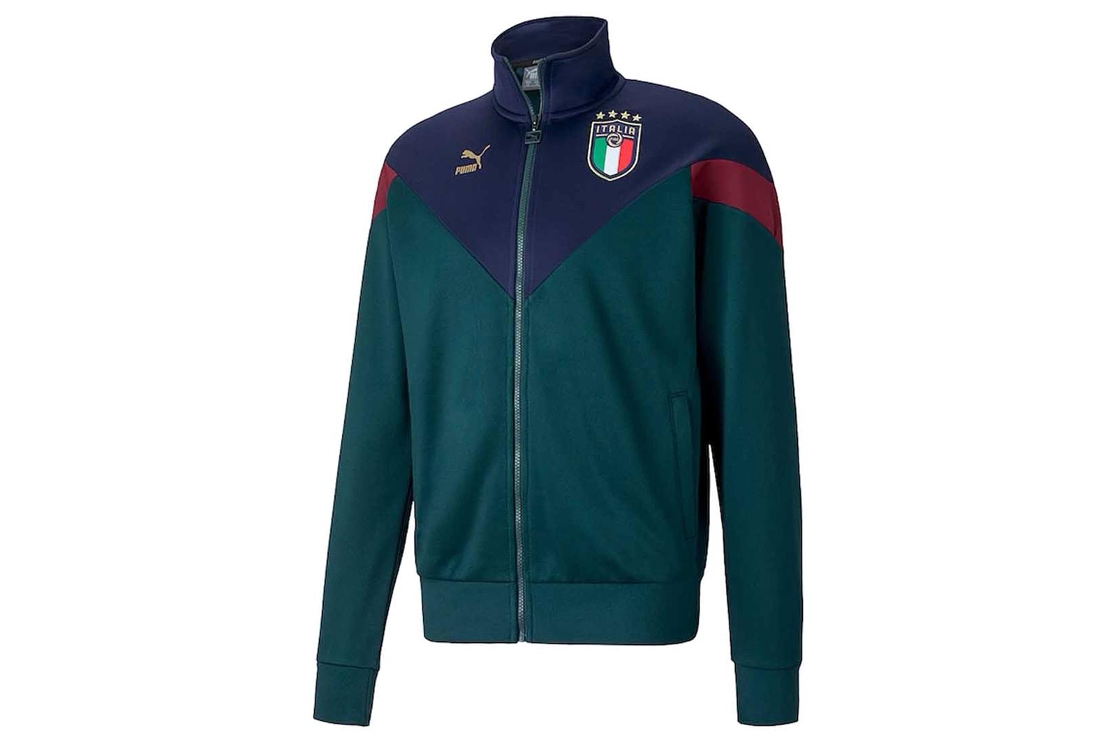 PUMA's Italy Renaissance Kit Clothing Collection Italian national football team green Azzurri football soccer