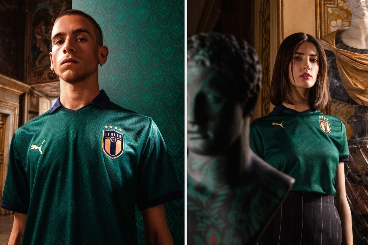 PUMA Unveils Brand New Green Renaissance-Inspired Kit for Italian National Team