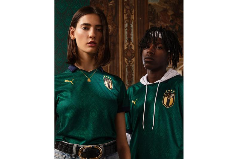 PUMA Italy National Football Team Kit 2019/20 euro green Renaissance Azzurri fooball soccer Italian blue lookbooks