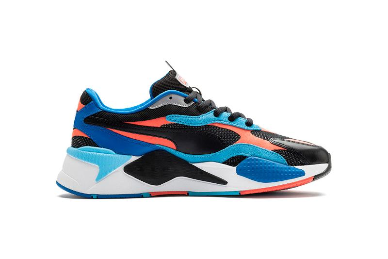 "PUMA RS-Xᶟ LEVEL UP Release Information Sneaker Drops Cop First Look Chunky Trainer ""PUMA Black/Hot Coral"" Azure ""White/Lime Punch"""