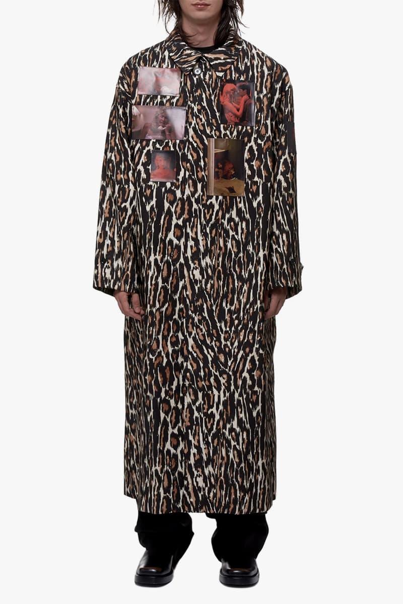 Raf Simons Leopard Print Animalier Coat blue velvet Kyle MacLachlan david lynch Laura Dern 1986 made in italy coats jackets outerwear Fall Winter 2019
