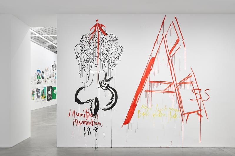 raymond pettibon frenchette exhibition david zwirner paris drawings artworks contemporary art