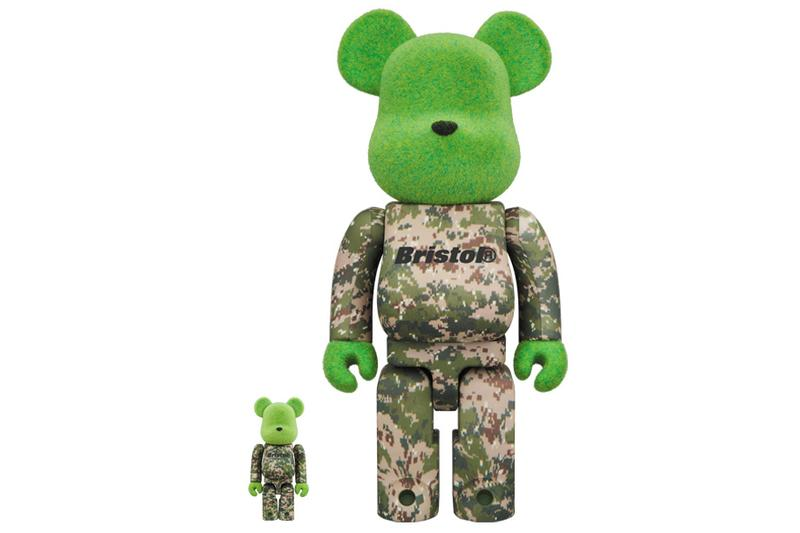 READYMADE F.C. Real Bristol BE@RBRICK Medicom Toy Green Brown Black Beige Furry Camouflage 100% 400%