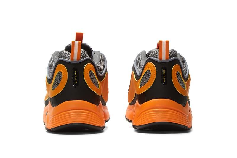 Reebok Daytona DMX II in Orange Sneaker Release Black Gray Mesh Leather