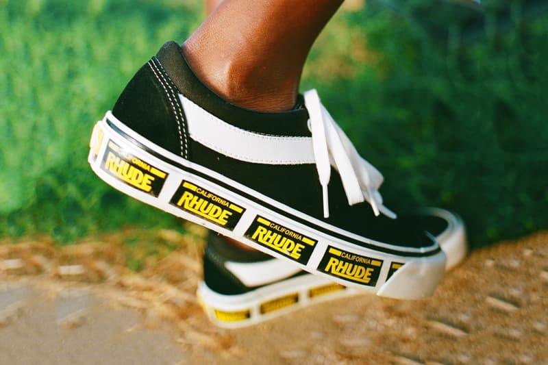 rhude rude vans bold ni rhuigi villasenor licence plate white red yellow black