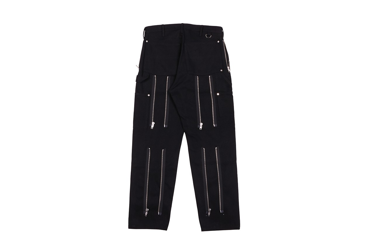 Richardson Bondage Collection Apparel & Homeware Lookbook Fall Winter 2019 FW19 Pieces Overalls Coveralls Pants Workpants Jacket Zipeprs Rubber Work Bag Leather Straps NSFW Incense Holder