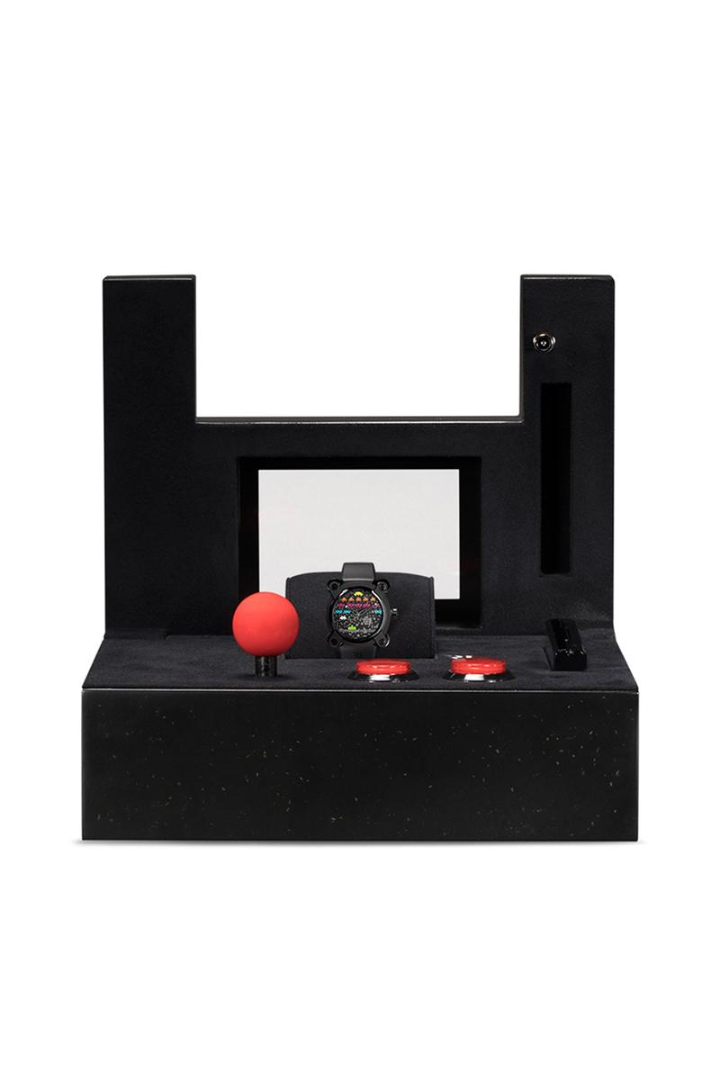 RJ Watches Moon Invader 'Space Invaders' Pop 46mm Release Information Cop Drop Release Information Online Browns $15700 USD Arcade Games Retro Vintage Tomohiro Nishikado
