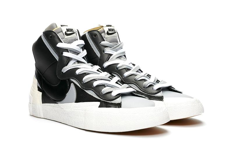 sacai nike blazer mid black white wolf grey release information date details buy cop purchase first official look chitose abe fraser cooke Bv0072-002-100