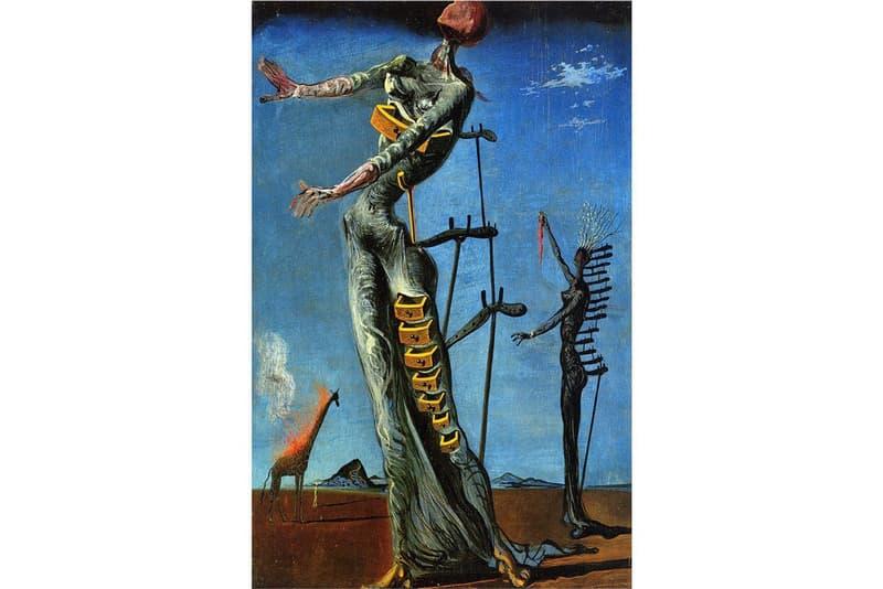 Salvador dali burning giraffe print dennis rae fine art san francisco gallery artworks theft