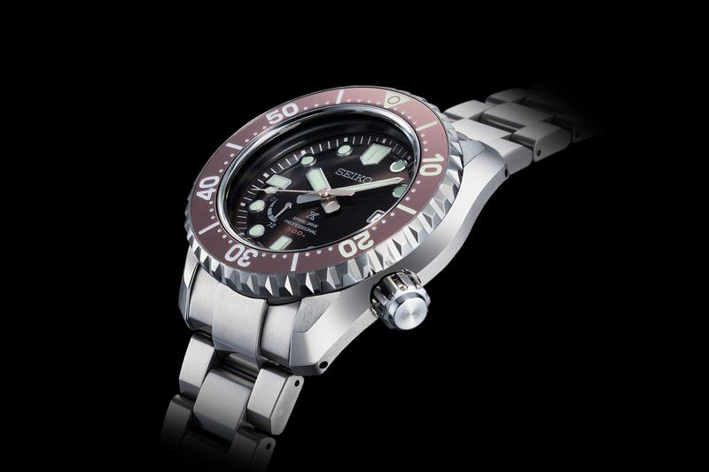 Seiko Prospex LX Line Limited-Edition Cermet Watch Dark Brown Charcoal Gray Violet Gold Platinum Diver Collection