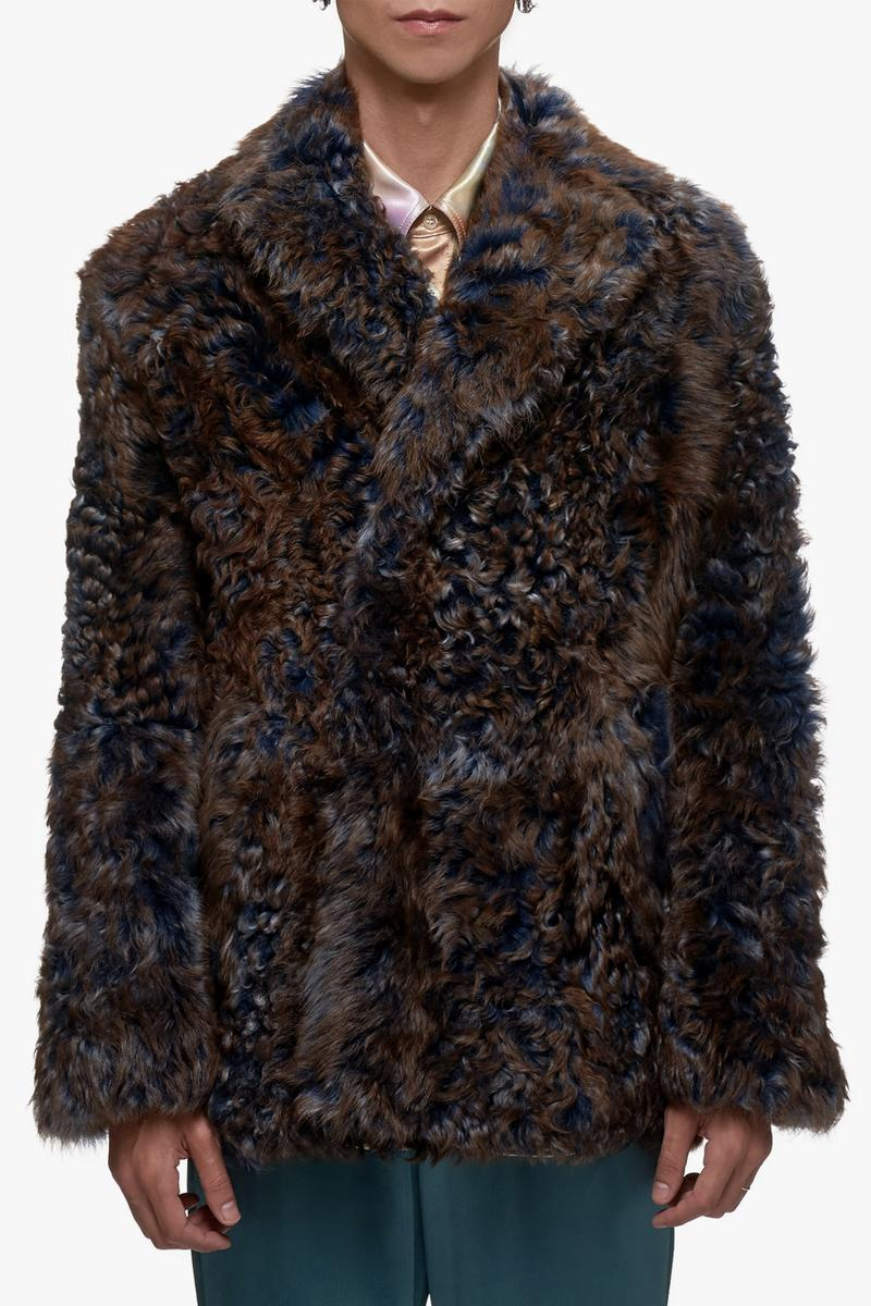 Sies Marjan Lamb Shearling Peacoat fall winter 2019 traditional brown indigo thick jacket coat outerwear furry made in turkey fur M5TG401