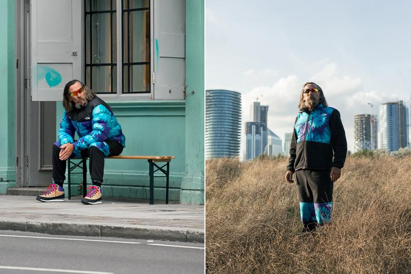 sneakersnstuff the north face 20th anniversary capsule collection tie dye black purple blue puffer nuptse jacket berkley boot denali fleece sweatpants hat sns