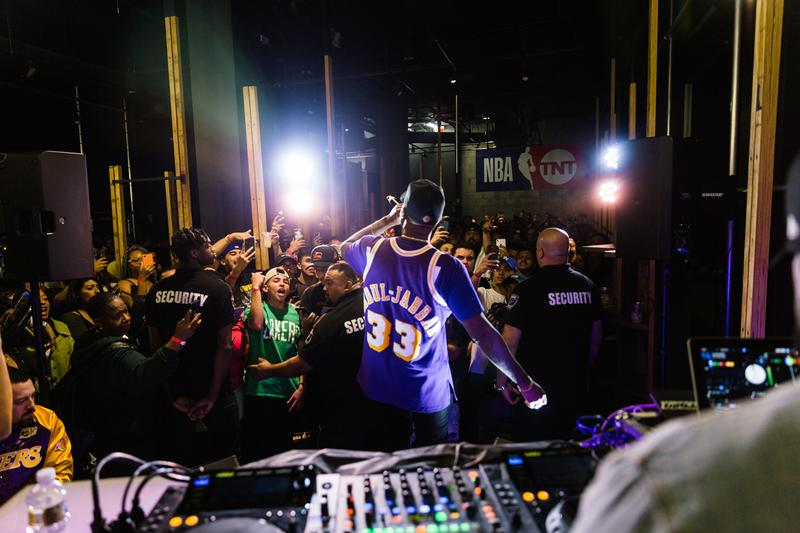 NBA on TNT LA Tip-Off Pop-Up Event Recap dom kennedy soulection jeff gordon los angeles jersey customization