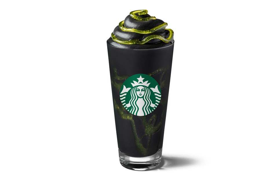 Starbucks Introduces a Charcoal-Infused Phantom Frappuccino for Halloween