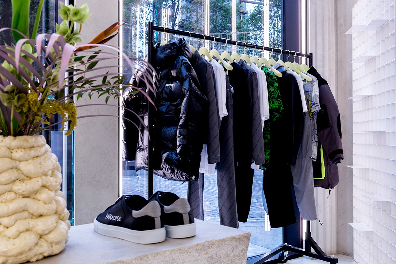 Stores London Soho District Axel Arigato M.C. Overalls Foot Patrol Universal Works