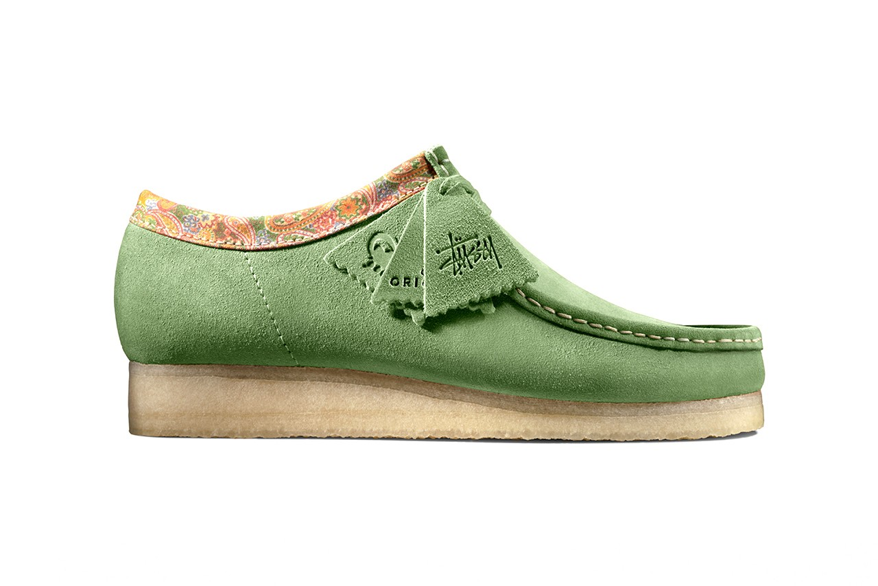 stussy clarks originals wallabee sage rust release information fall winter 2019 paisley buy cop purchase details