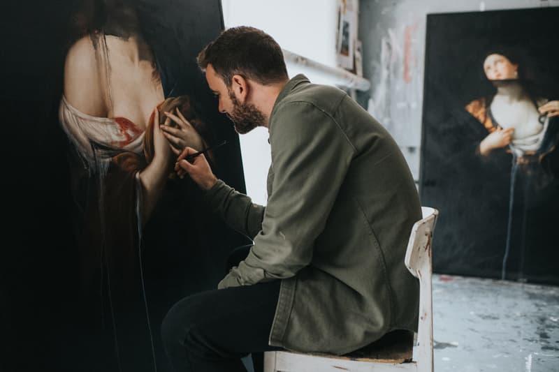 """Ted Pim """"Empire Lines"""" Exhibition The Salon Portraits Battle Scenes Flowers Oil Paintings"""
