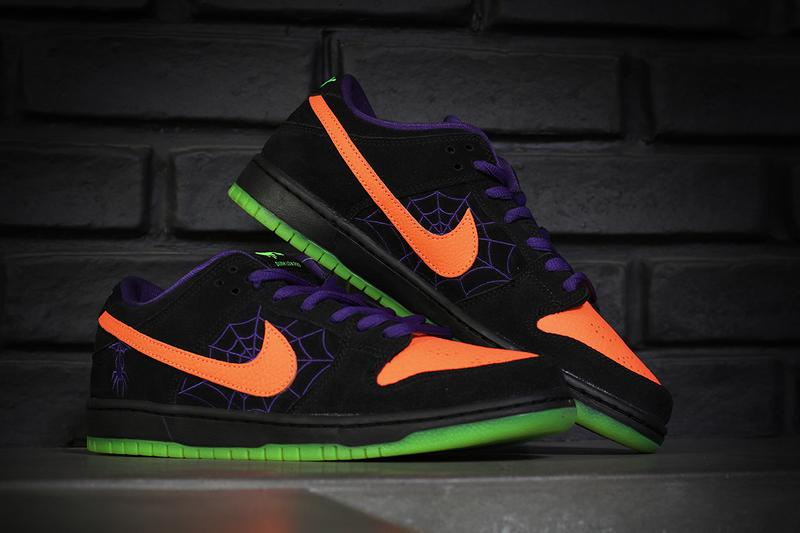 "Nike SB Dunk Low ""Night of Mischief"" The Berrics Canteen Launch Information Do a Kickflip Store Shock Raffle Editorial Closer Look Skateboarding Halloween Sneakers"