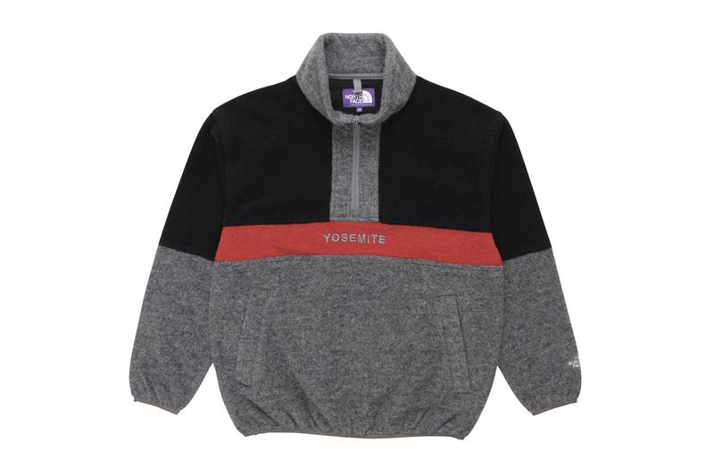 THE NORTH FACE PURPLE LABEL Half Zip Pullover Crewneck Sweater fleece polartec angora wool outdoor apparel sweatshirt functional technical