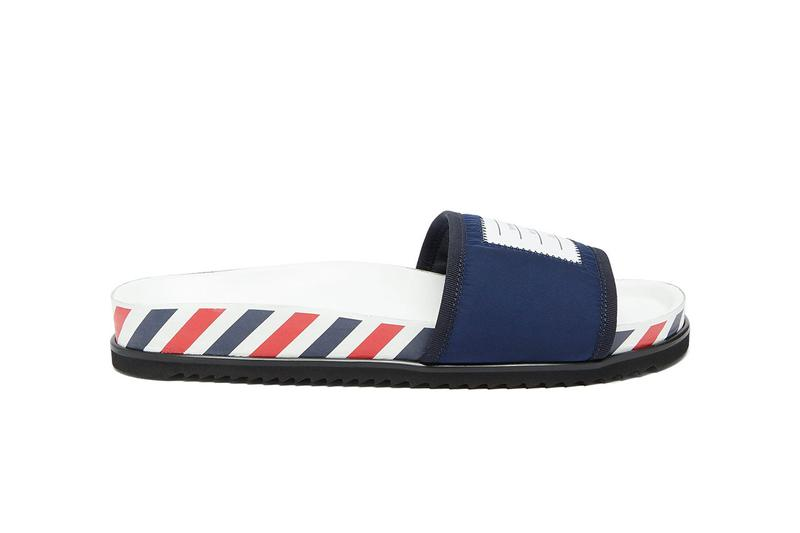 Thom Browne Tricolor-Striped Slide Sandals FW19 fall winter 2019 shoe buy colorway