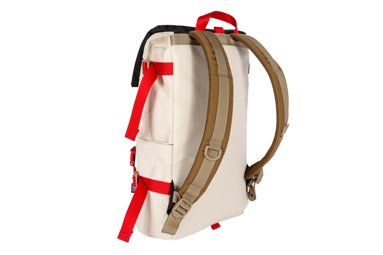 topo designs new balance 574 backpack fanny shoulder bag cream red brown all coasts Rover Quick Pack grid