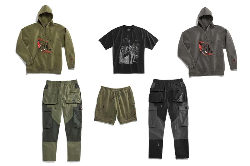 Travis Scott Air Jordan 6 Cactus Jack Apparel Official Look hoodie T shirt Cargo Pants Shorts Release Info Date Buy Little Big Kids Toddler Adult Size