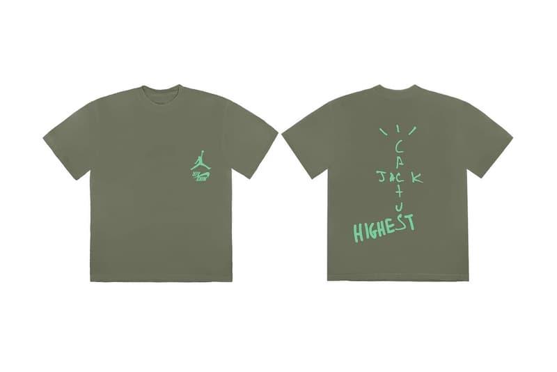 travis scott jordan highest in the room apparel brown green yellow cactus jack sweatpants sweatshirt hoodie t shirt