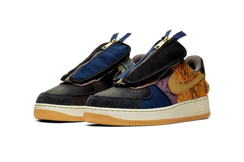 travis scott nike air force 1 low cactus jack 2019 release date info photos navy brown gum white CN2405 900