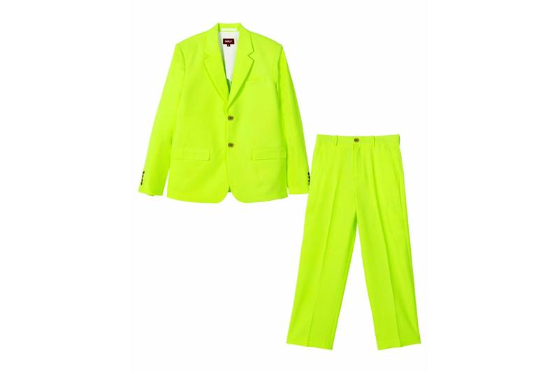 Tyler, the Creator 'IGOR' Costume Release Info Powder Blue Highlighter Green Yellow Red Blazer Trousers Platinum Blonde Wig