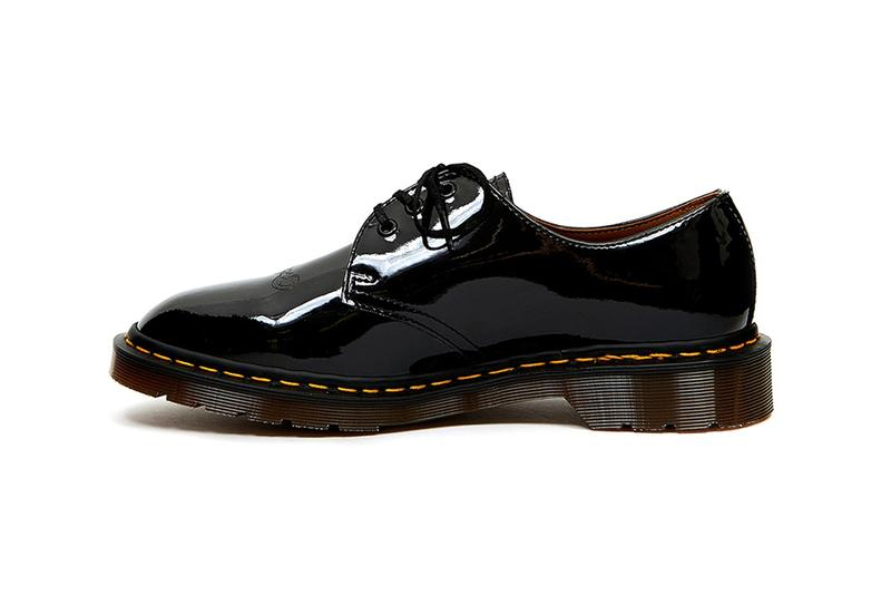 undercover dr doc martens 1461 eb fall winter 2019 fw19 black glossy patent beige release information jun takahashi we make noise not clothes release information