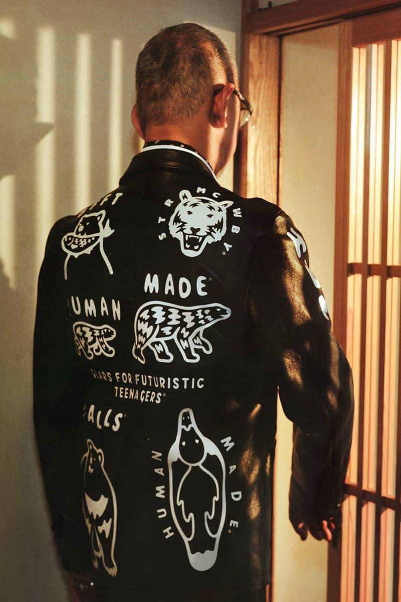 HUMAN MADE UNITED ARROWS and SONS Leather Blazer nigo pharrell sheep jackets sartorial bespoke tailored logo graphics 30th anniversary