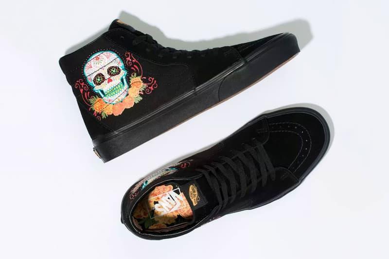 vans sk8 skate hi dia de los muertos halloween sugar skull release date info photos 2019 october 31